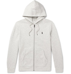 Polo Ralph Lauren Mélange Jersey Zip-Up Hoodie