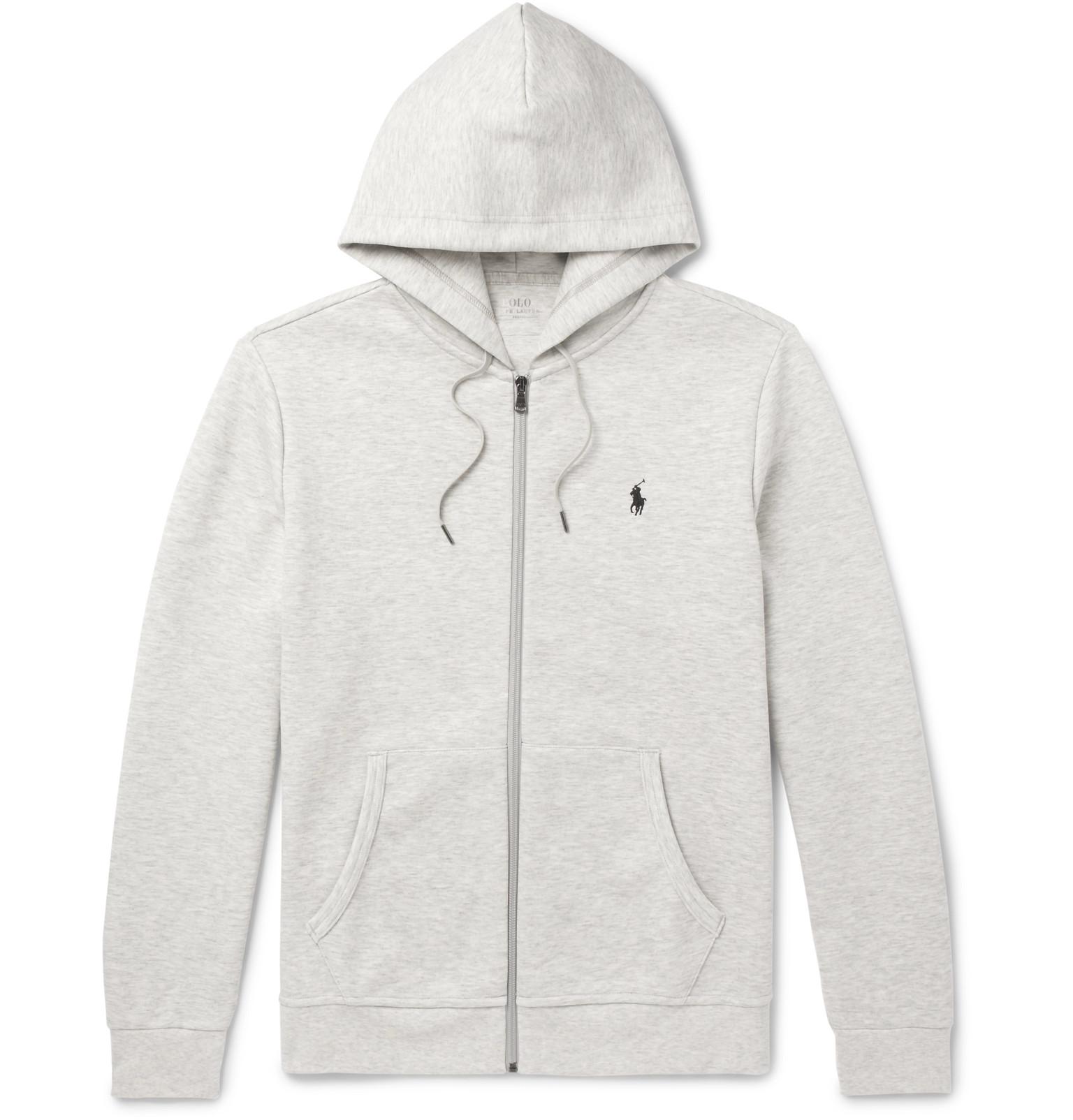 12912aae060 Polo Ralph Lauren - Mélange Jersey Zip-Up Hoodie