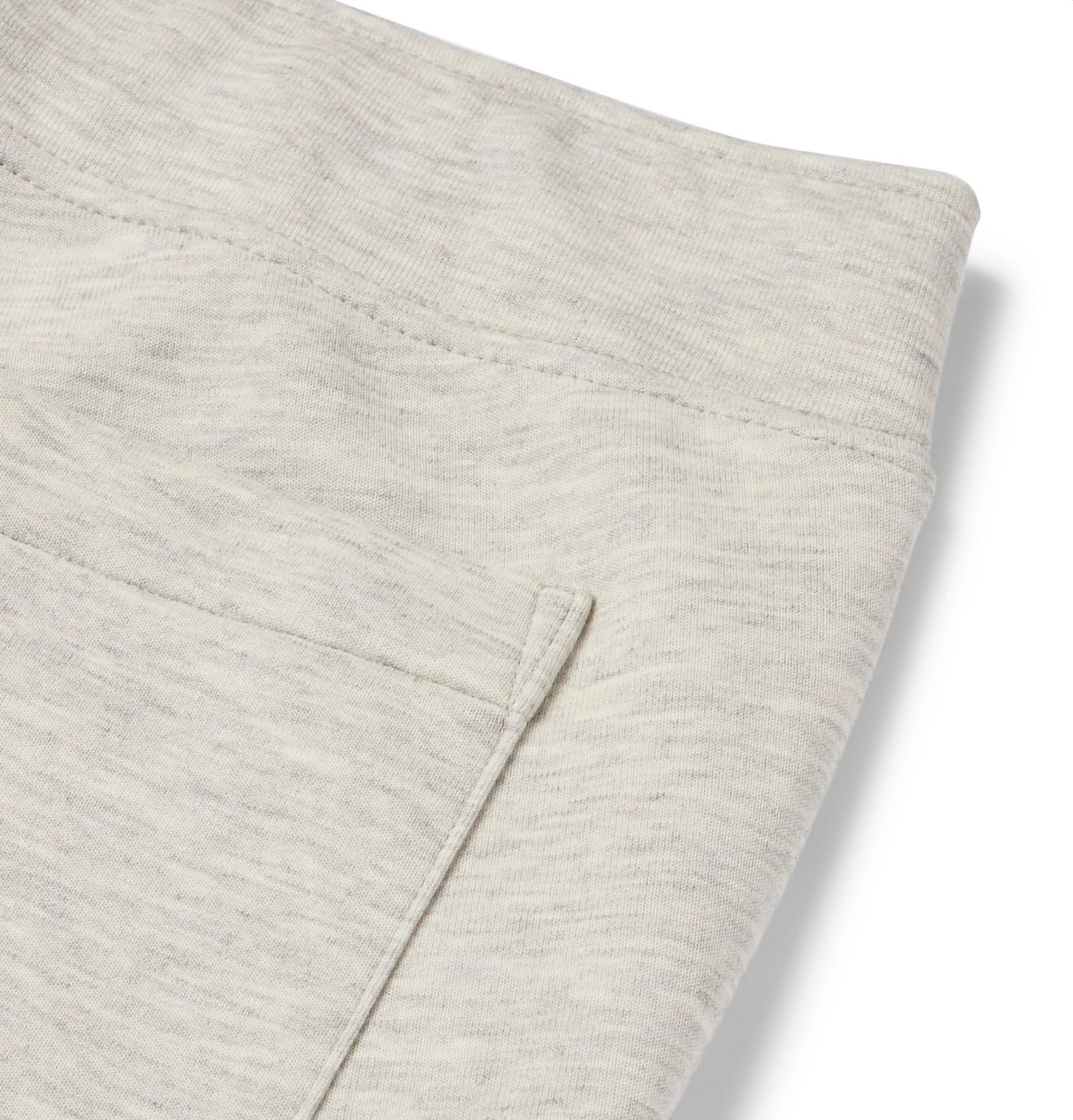 f747609a0227 Polo Ralph Lauren - Slim-Fit Mélange Tapered Jersey Sweatpants