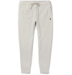 폴로 랄프로렌 Polo Ralph Lauren Slim-Fit Melange Tapered Jersey Sweatpants,Light gray