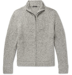 James Perse - Mélange Cotton-Blend Zip-Up Cardigan