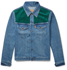 Levi's Vintage Clothing Corduroy-Panelled Denim Jacket