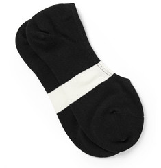 N/A - Striped Stretch Cotton-Blend No-Show Socks