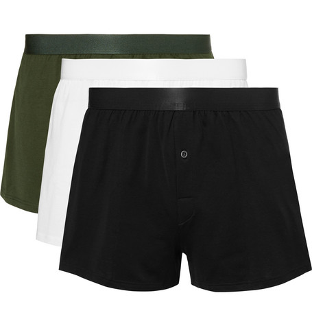CDLP Three-Pack Cotton-Jersey Boxer Shorts in Multi