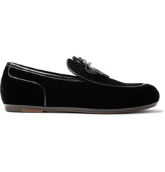 Bottega Veneta Trinity Embroidered Leather-Trimmed Velvet Loafers