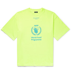 Balenciaga + The World Food Programme Oversized Logo-Print Cotton-Jersey T-Shirt