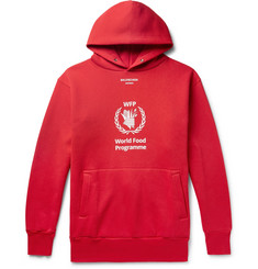 Balenciaga - + The World Food Programme Logo-Print Cotton-Blend Hoodie