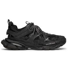 Balenciaga Track Mesh and Leather Sneakers