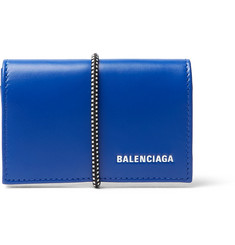 Balenciaga Elastic-Bound Leather Cardholder