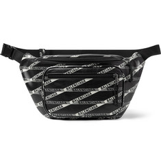 Balenciaga Explorer Logo-Print Leather Belt Bag