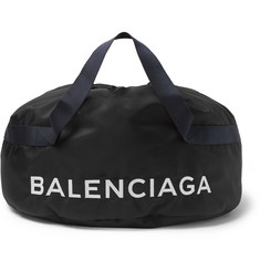 Balenciaga Logo-Embroidered Nylon Holdall