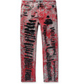 Gucci Skinny-Fit Painted Distressed Jeans