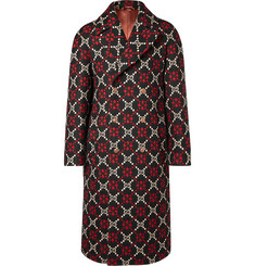 Gucci - Double-Breasted Logo-Jacquard Wool Coat
