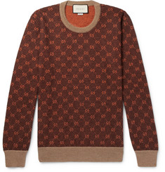 Gucci Logo-Intarsia Wool and Alpaca-Blend Sweater