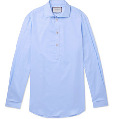 Gucci - Oversized Grandad-Collar Cotton-Poplin Half-Placket Shirt
