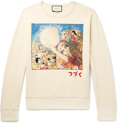 Gucci Printed Loopback Cotton-Jersey Sweatshirt