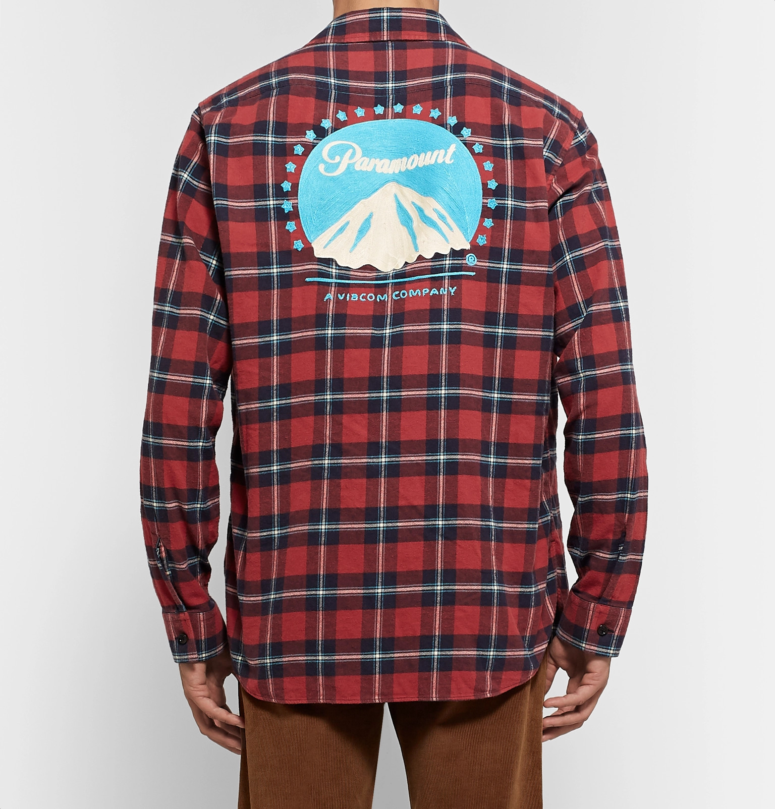 1f8b2634c GucciOversized Embroidered Checked Cotton-Flannel Shirt.  1