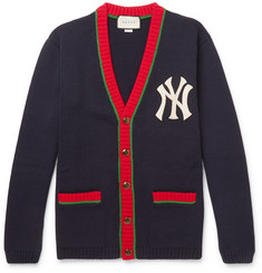 Gucci + New York Yankees Appliquéd Wool Cardigan