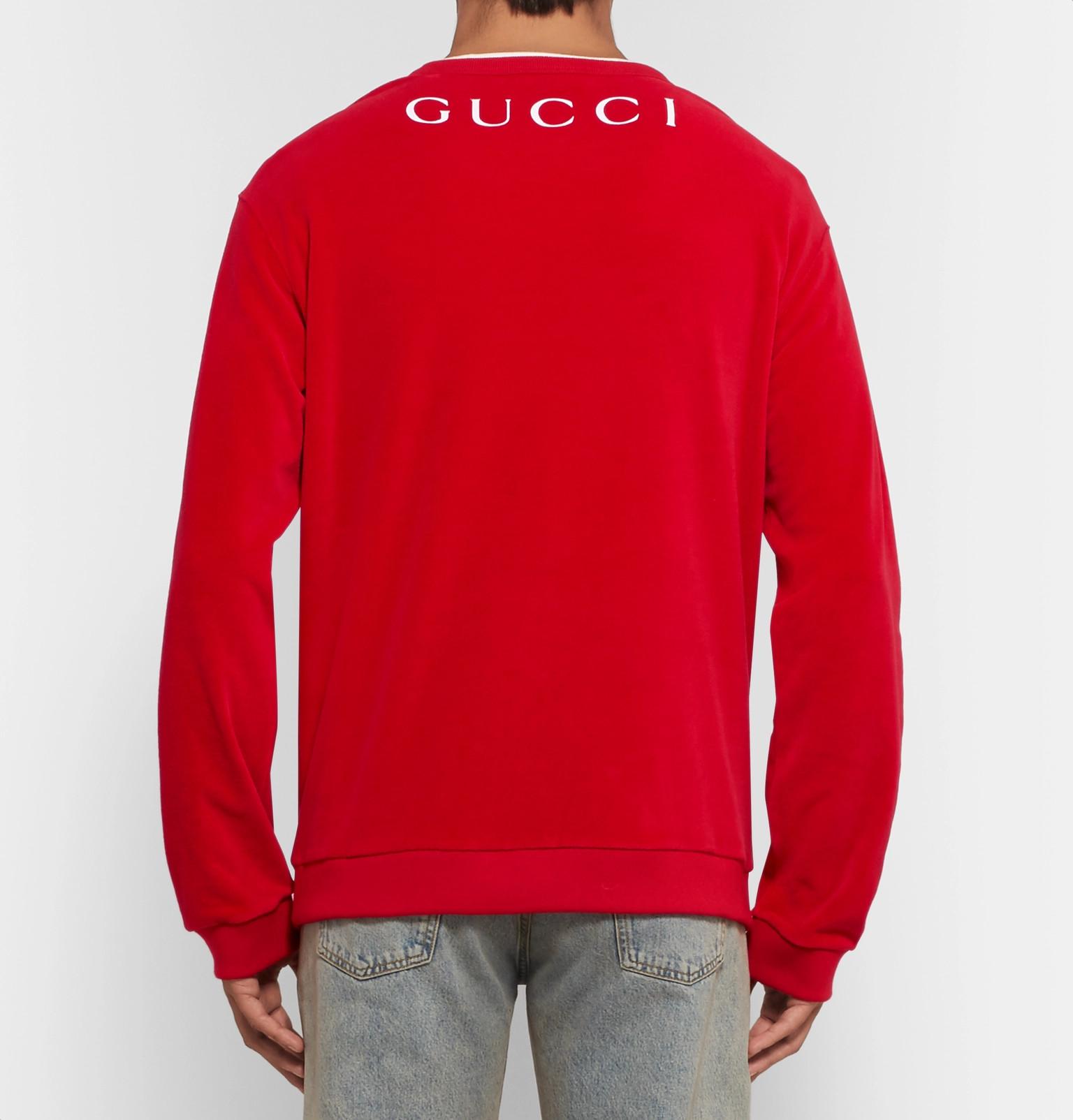 cf4827e2 Gucci - Printed Cotton-Blend Velvet Sweatshirt