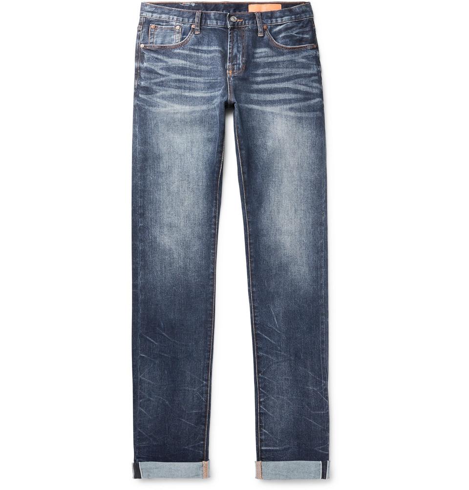 Mick Slim-fit Selvedge Stretch-denim Jeans - Blue