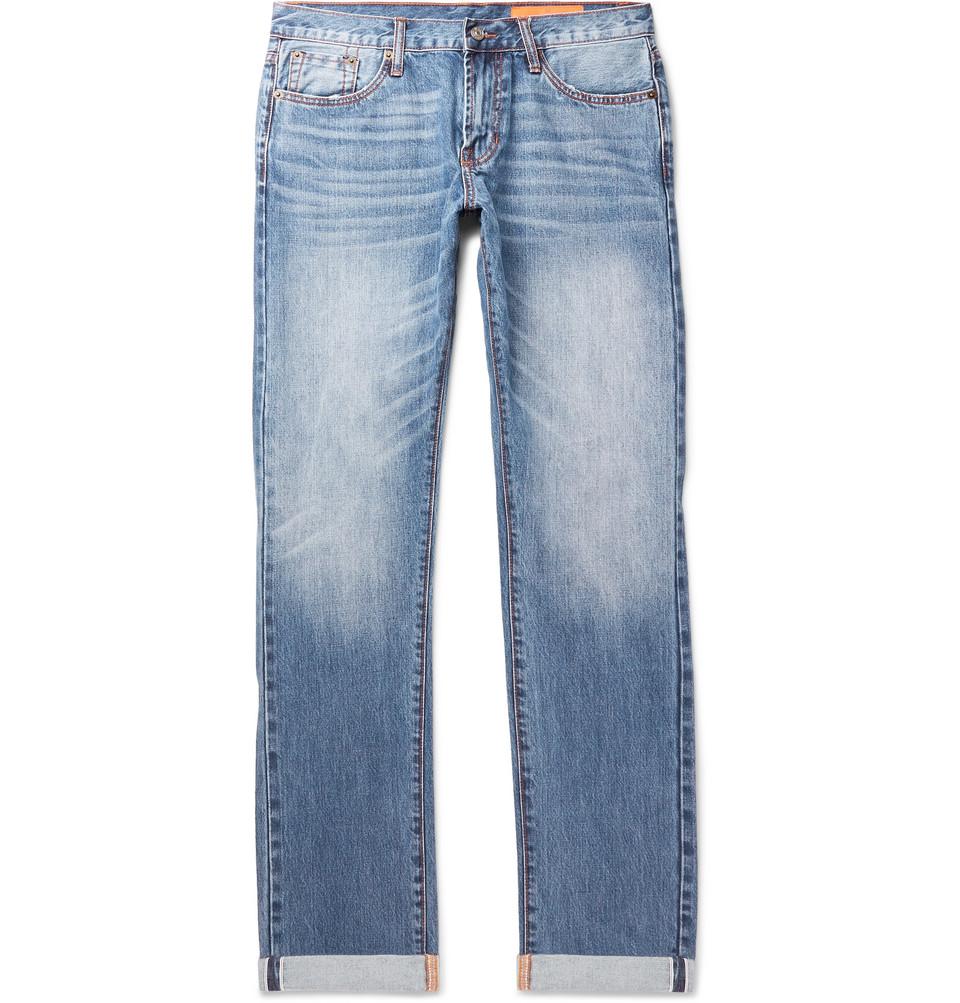 Mick Slim-fit Selvedge Denim Jeans - Blue