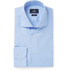 Hackett Light-Blue Mayfair Slim-Fit Cotton-Poplin Shirt