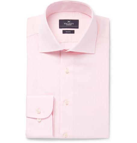 Hackett Pink Mayfair Slim-fit Cotton-poplin Shirt - Pink t9RVp