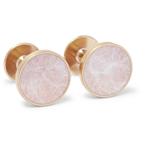 Bayley Gold Tone Salmon Patina Cufflinks by Alice Made This