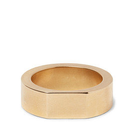 Alice Made This Bacchus Brushed Gold-Tone Signet Ring