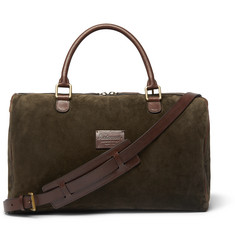 Anderson's - Small Suede and Full-Grain Leather Holdall