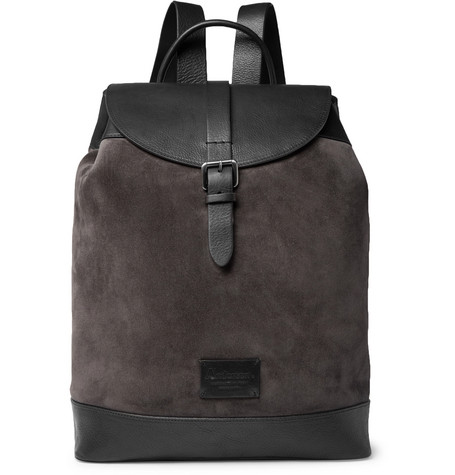 Suede And Full Grain Leather Backpack by Anderson's