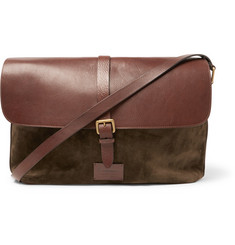 Anderson's - Suede and Full-Grain Leather Messenger Bag