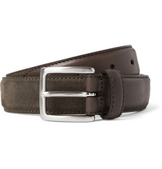 Anderson's 3cm Suede and Leather Belt