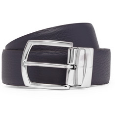 Anderson's 3cm Navy and Brown Reversible Leather Belt