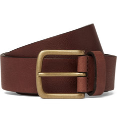 Anderson's 3cm Brown Textured-Leather Belt