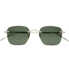 Oliver Peoples Finne Square-Frame Gold-Tone Sunglasses