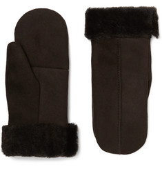 Dents - Inverness Shearling-Lined Suede Mittens