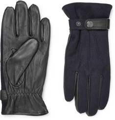 Dents - Flannel and Leather Gloves