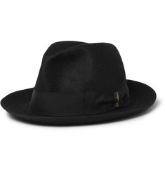 Borsalino - Traveller Grosgrain-Trimmed Rabbit-Felt Hat