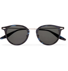 Barton Perreira Cambridge Round-Frame Acetate and Titanium Sunglasses
