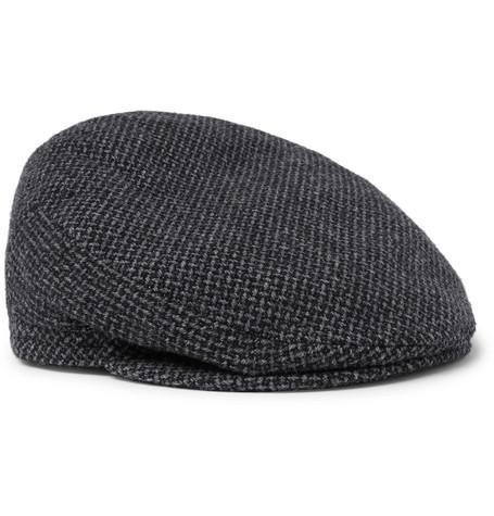 LOCK & CO HATTERS Oslo Wool-Tweed Flat Cap in Gray