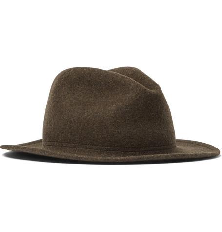 LOCK & CO HATTERS Rambler Rollable Wool-Felt Trilby in Brown