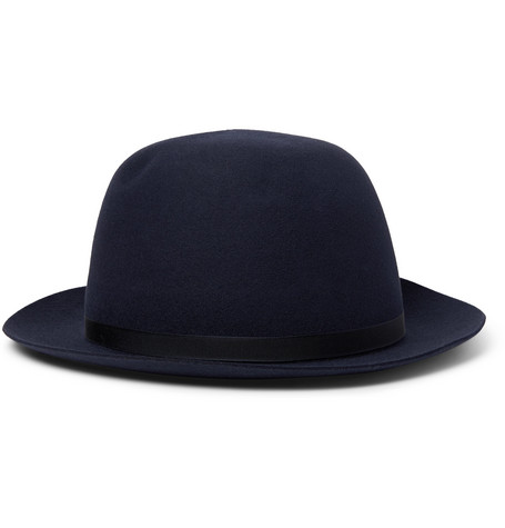 Voyager Grosgrain Trimmed Rabbit Felt Trilby Hat by Lock & Co Hatters