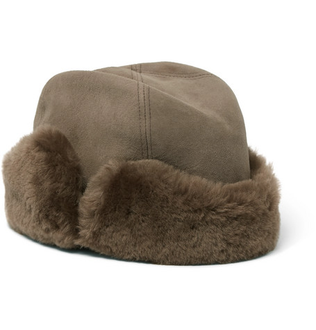 LOCK & CO HATTERS Vermont Shearling Hat in Brown
