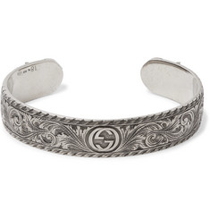 Gucci - Engraved Sterling Silver Cuff