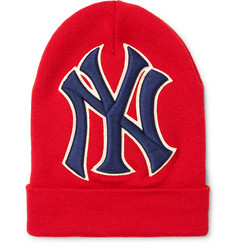 Gucci + New York Yankees Appliquéd Wool Beanie