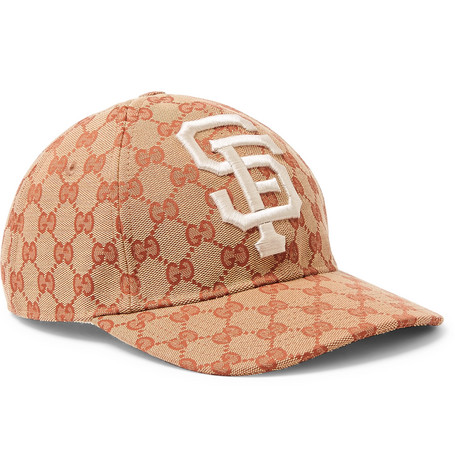 + San Francisco Giants Appliquéd Logo-print Coated-canvas Cap