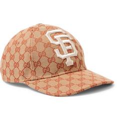 55c317df589 Polo Ralph LaurenCotton-Twill Baseball Cap€40. Gucci - + San Francisco  Giants Appliquéd Logo-Print Coated-Canvas Cap