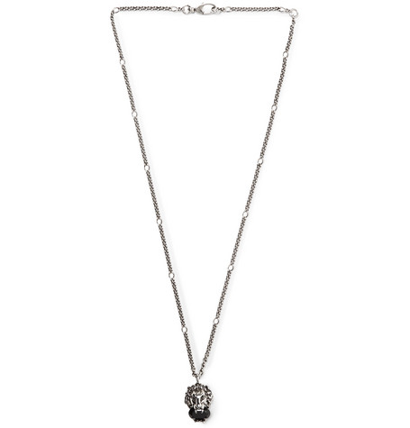Burnished Silver-tone Swarovski Crystal Necklace