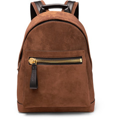 TOM FORD - Suede and Leather Backpack